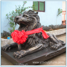 Life Size Bronze Lion Sculpture